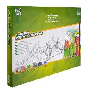 Kredki ołówkowe trójkątne Cricco 12x 12 kolorów -CR322BOX144