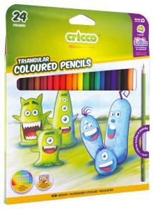 Kredki ołówkowe trójkątne Cricco 24 kolory - CR322K24