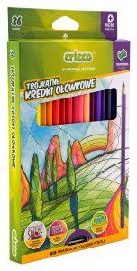 Kredki ołówkowe trójkątne Cricco 36 kolorów - CR322K36