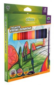 Kredki ołówkowe trójkątne Cricco 48 kolorów - CR322K48