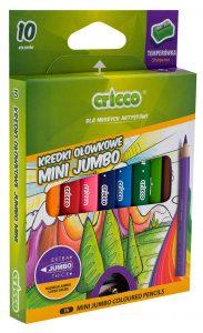 kredki ołówkowe trójkątne Mini Jumbo Cricco 10 kolorów - CR328K10