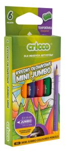 kredki ołówkowe trójkątne Mini Jumbo Cricco 6 kolorów - CR328K6