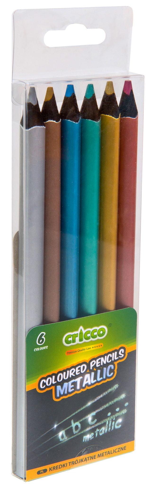 Kredki ołówkowe blackwood Jumbo Cricco metaliczne