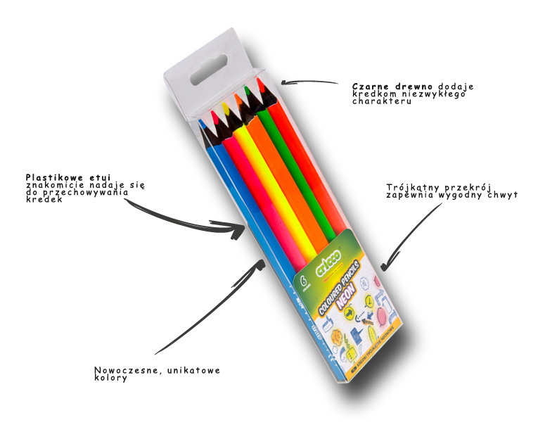 Kredki ołówkowe blackwood Jumbo Cricco