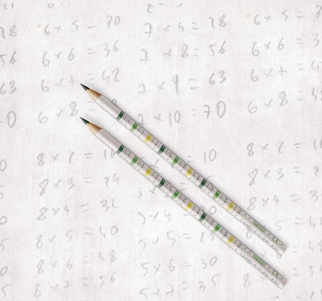 Ołówek z tabliczką mnożenia Cricco